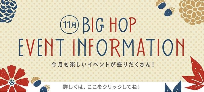 BIGHOPイベント情報(11月)